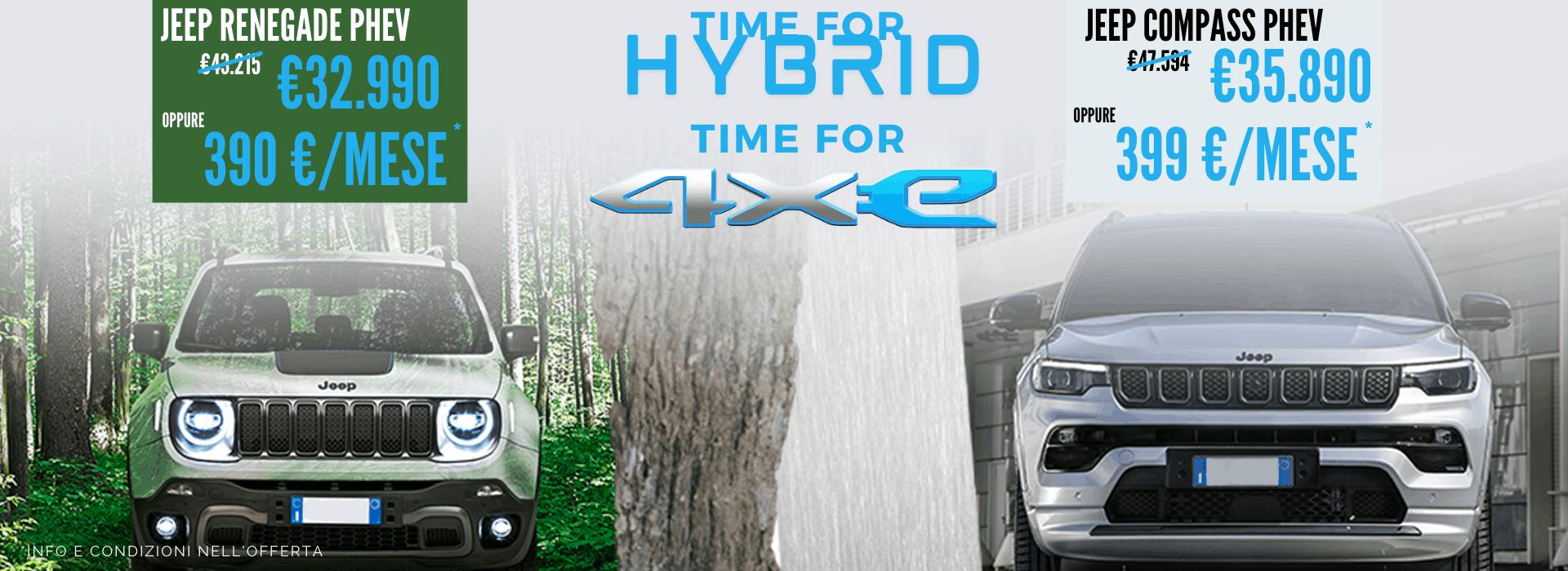 Jeep Compass e Renegade Hybrid